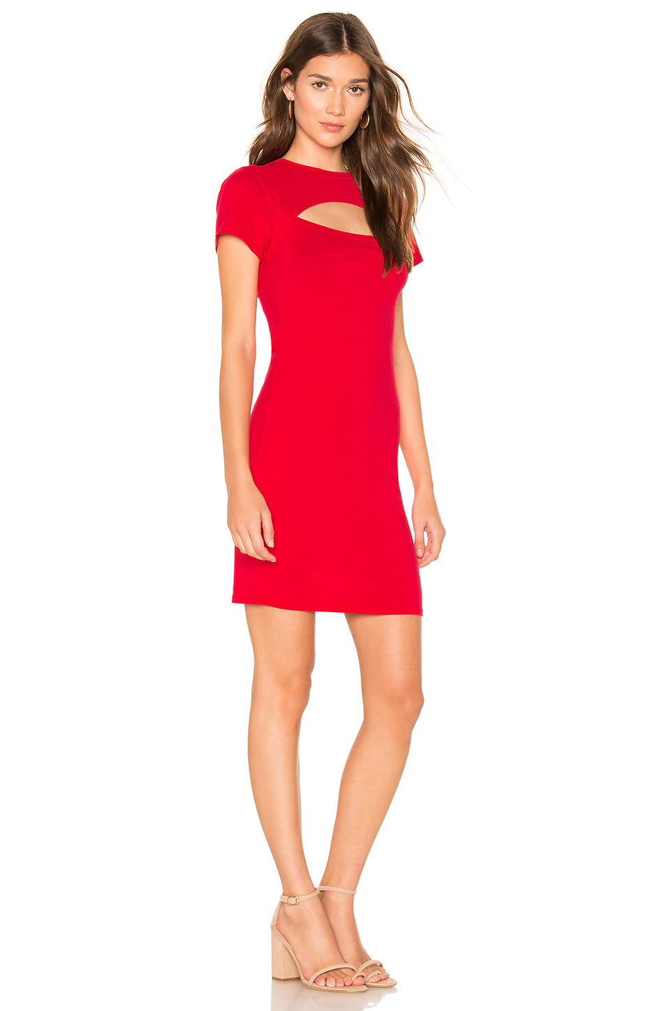 Bobi Draped Modal Jersey Bodycon Dress