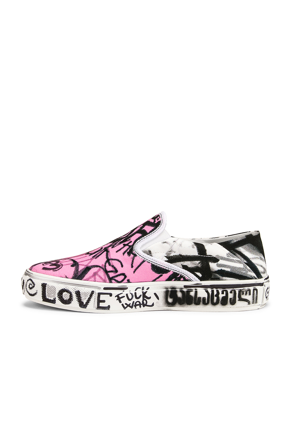 VETEMENTS Graffiti Slip On Sneakers