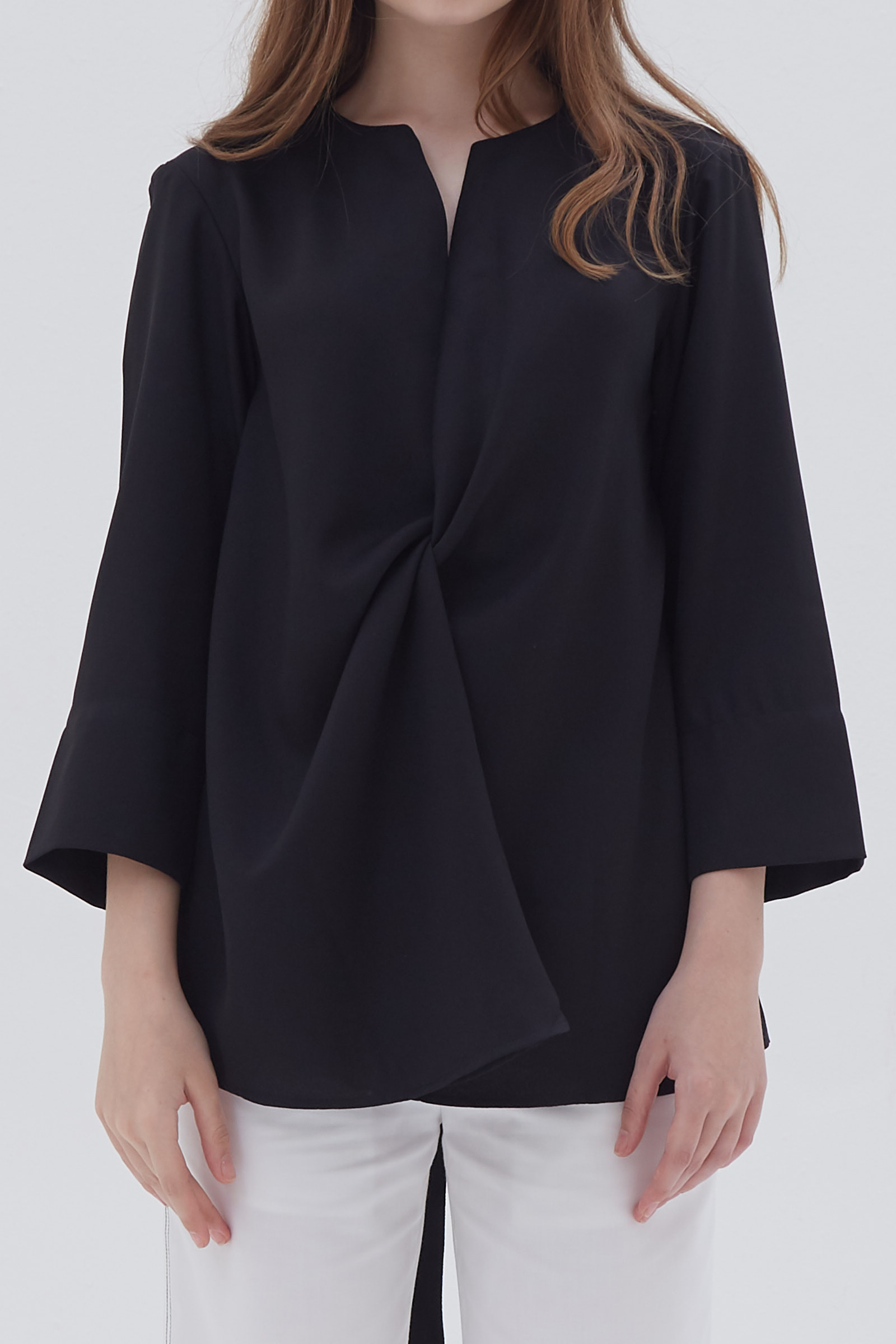 Shopatvelvet Croix Two Way Blouse Black