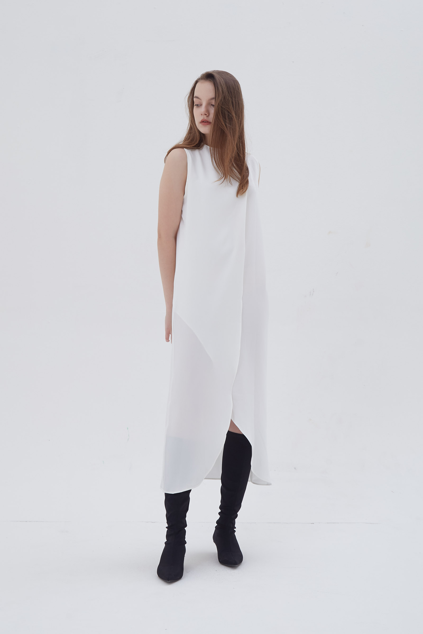 Shopatvelvet Assemble Dress White