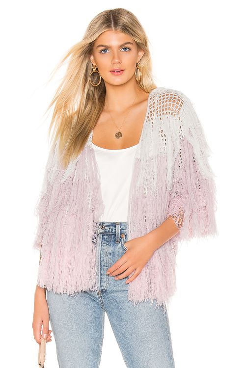 Chaser Quarter Sleeve Shaggy Cardigan