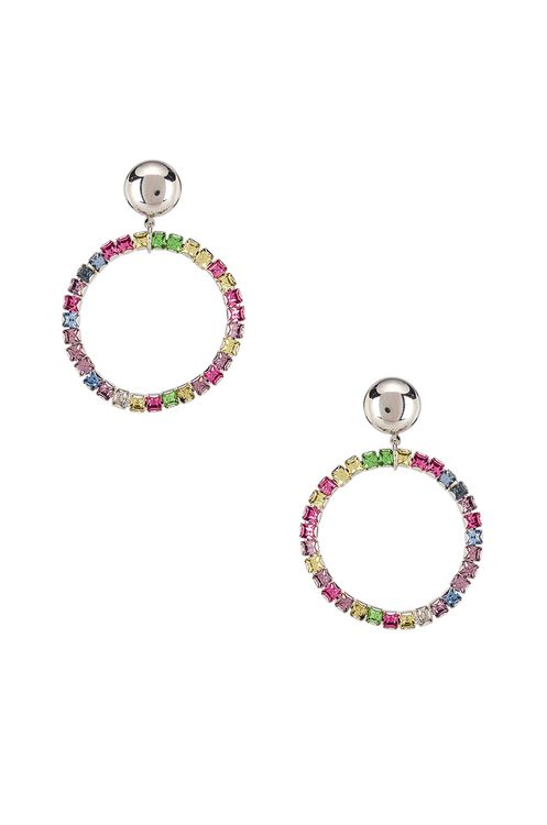 LARUICCI Rainbow Crystal Earrings