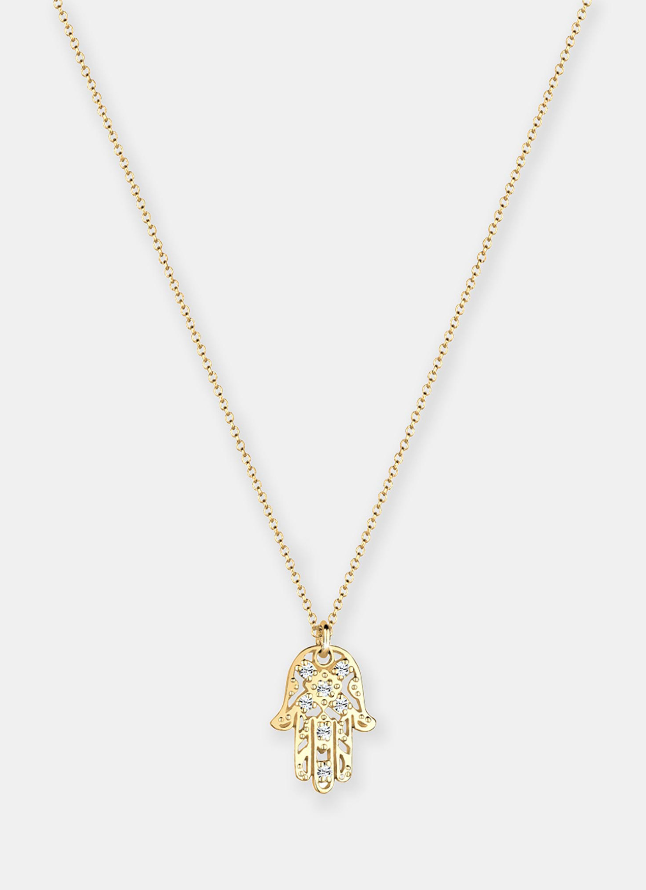 e6f2132ea7a32 Hamsa Hand Swarovski Crystals Necklace - Gold, Elli Germany