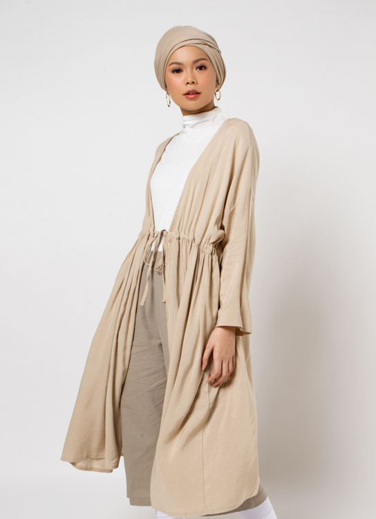 Sayee Babydoll Outer - Beige