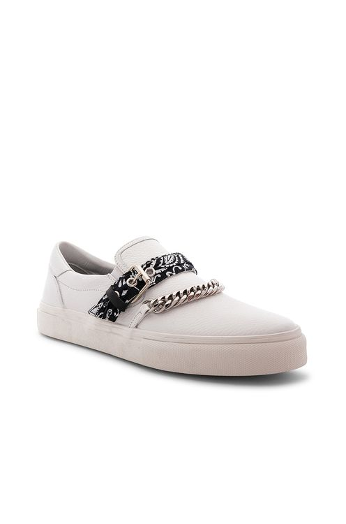 Amiri Slip On Bandana Leather Sneaker