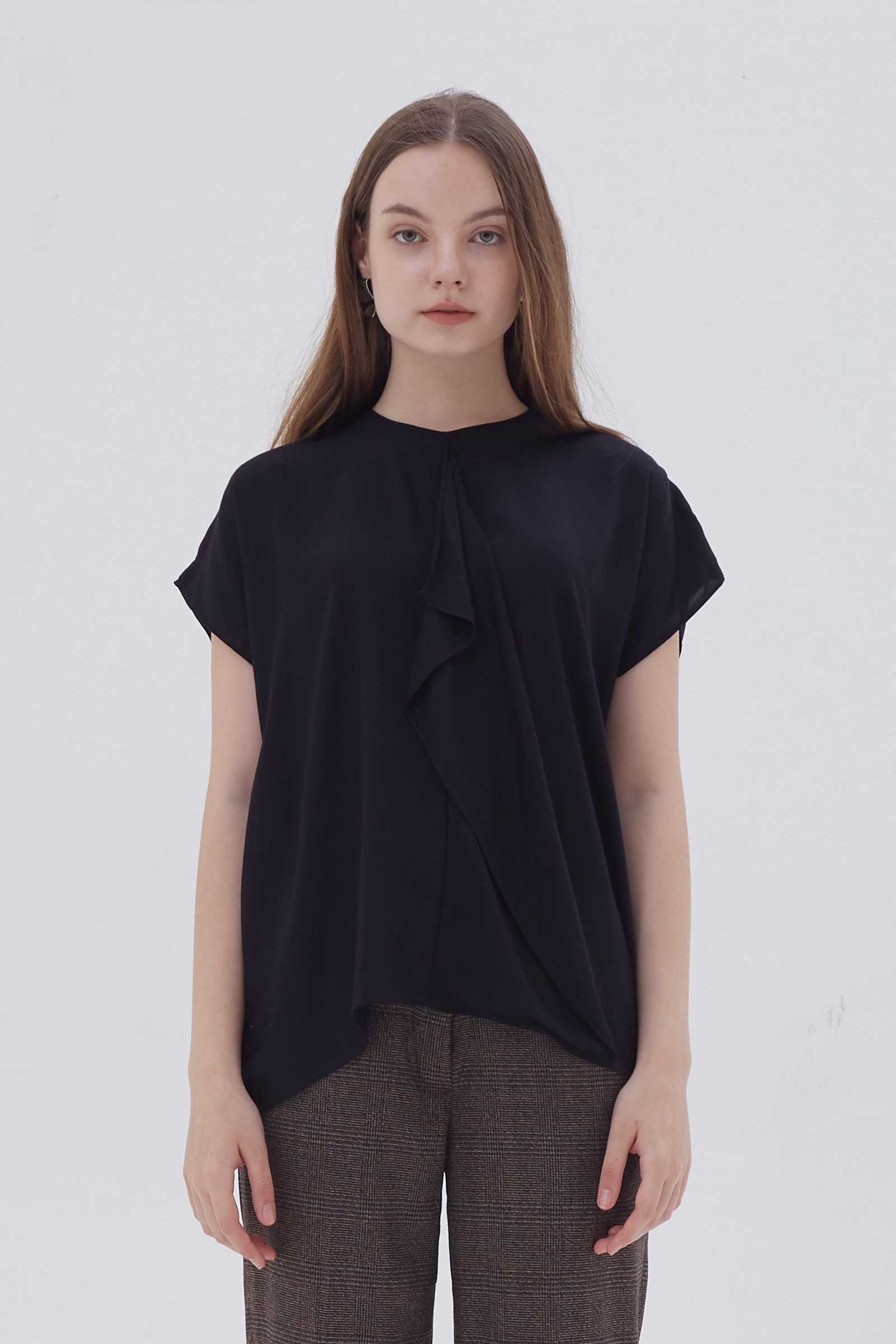 Shopatvelvet Poly Top Black