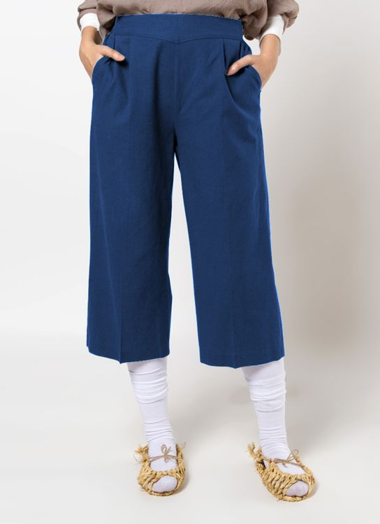 Sayee Basic Linen Pants - Navy