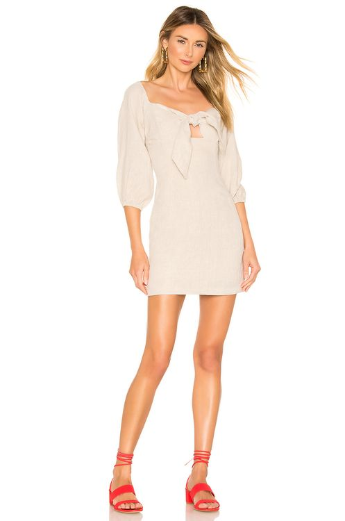 Suboo Wanderer Tie Front Mini Dress