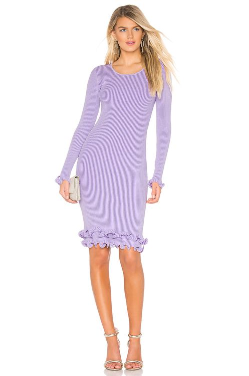 Milly Wired Edge Fitted Dress