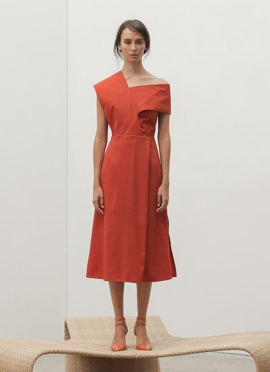 Fabrica Official Kathe Dress - Tangerine