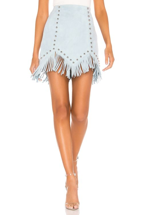 X by NBD Cristal Suede Mini Skirt