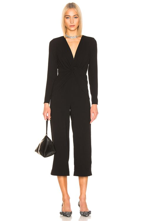 Self Portrait Twist Front Jumpsuit