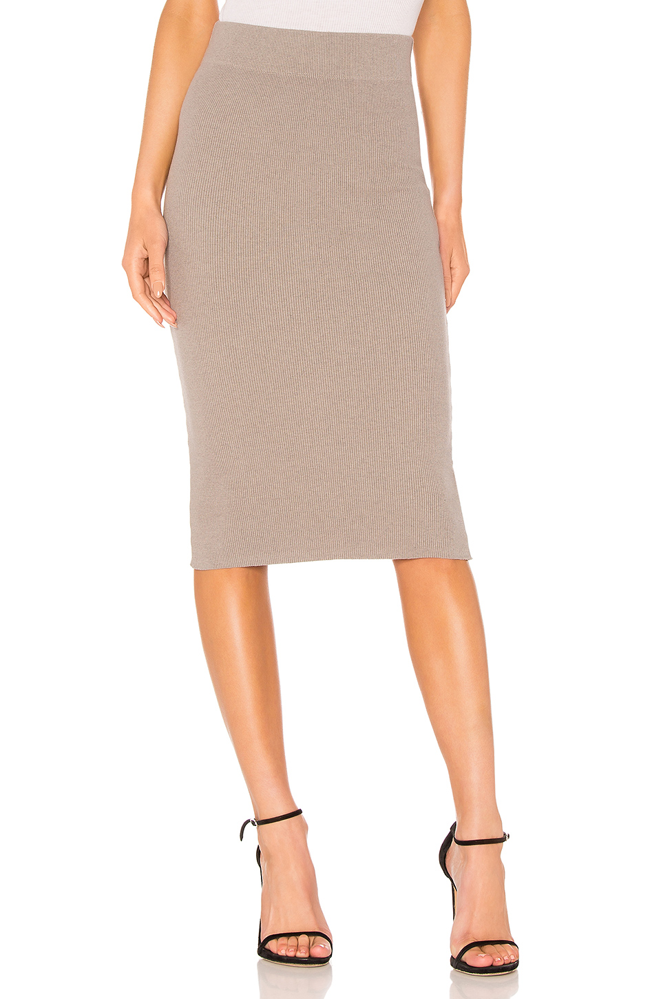 James Perse Melange Rib Skinny Skirt