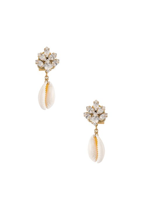 Anton Heunis Cluster Shell Earrings