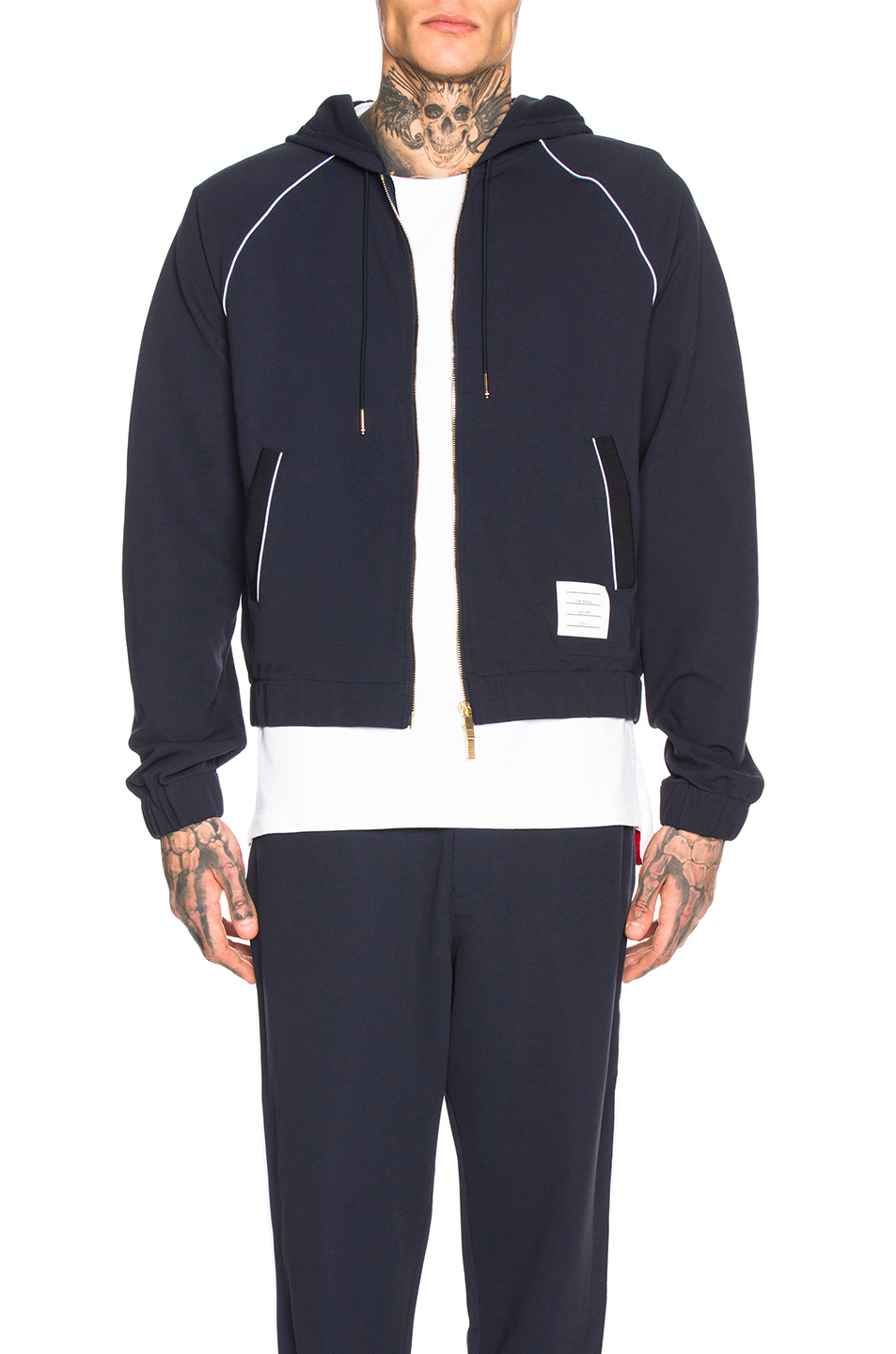 43e0944a066d Buy Original Thom Browne Knit Tech Piping Hoodie at Indonesia