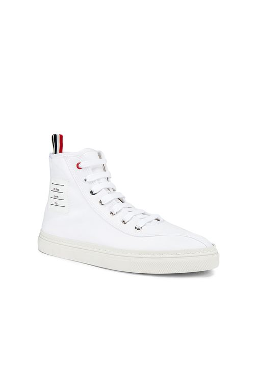 Thom Browne Paper Label Hi-Top Sneaker