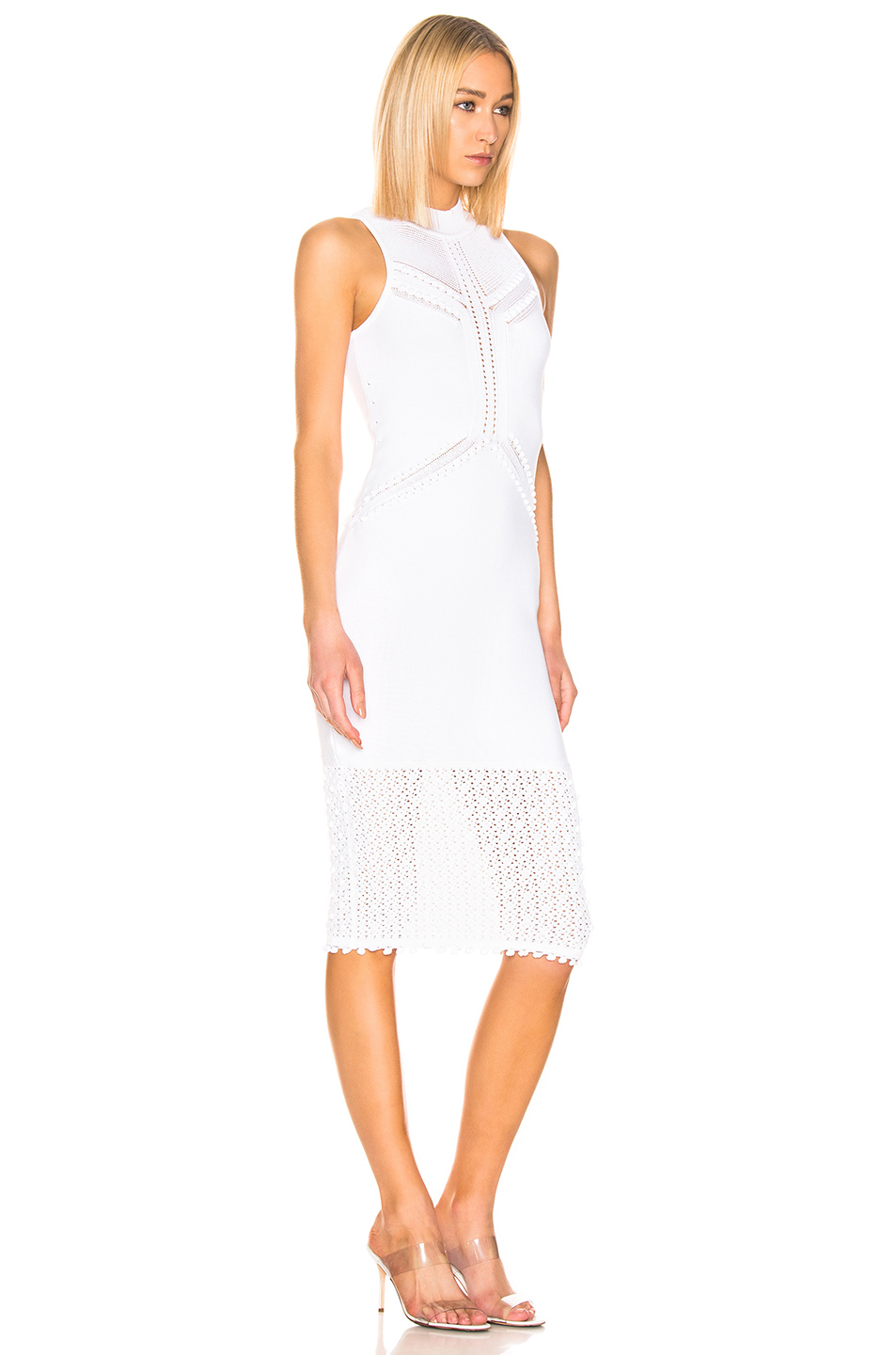 Cushnie Knit Pom Pom Trim Dress
