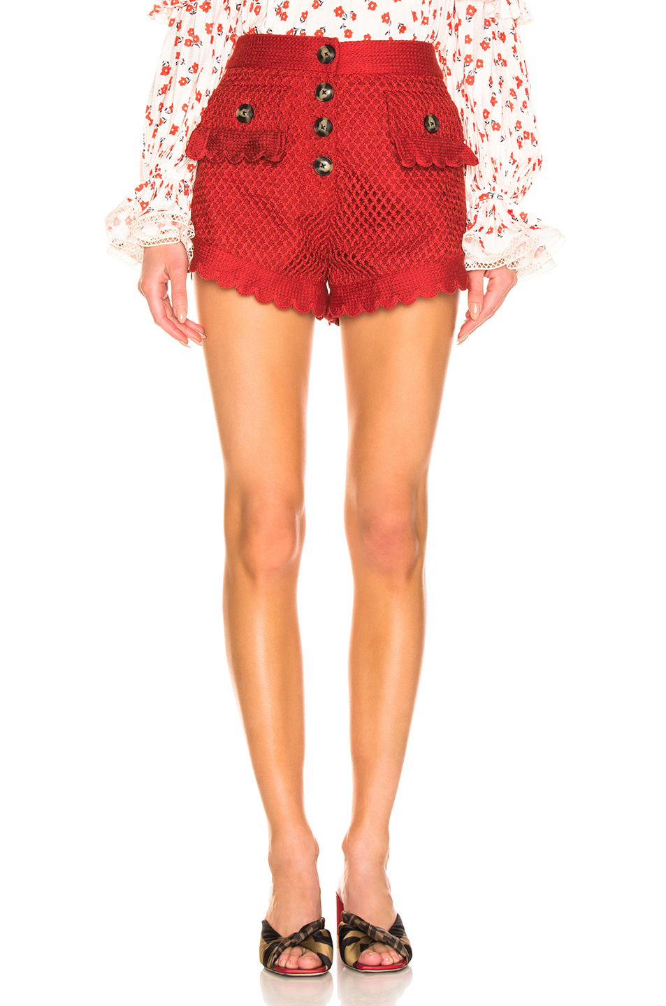 Jual Self Portrait Crochet Lace Shorts 100 Original Bobobobo