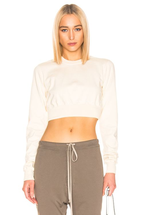 DRKSHDW by RICK OWENS Cropped Crewneck Sweater