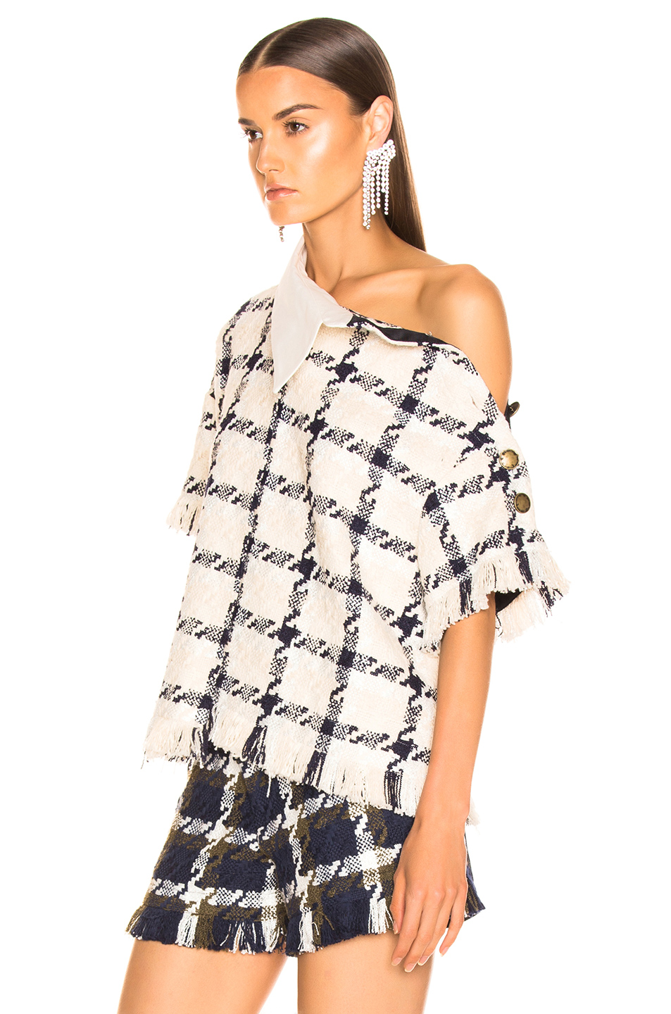 Monse Shifted Tweed Rugby Top