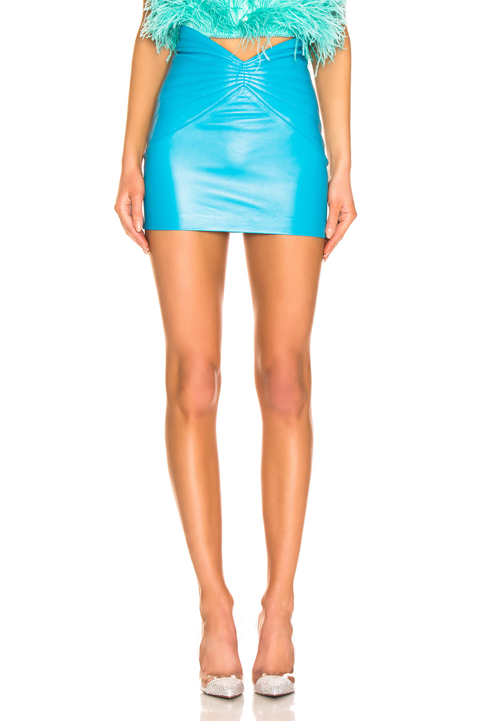 ATTICO Butterfly Leather Mini Skirt