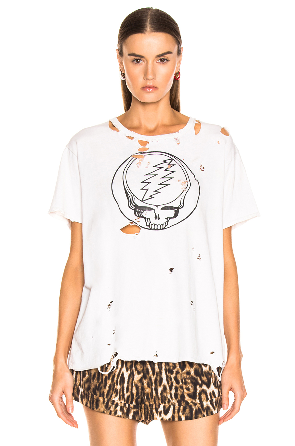 R13 Steal Your Face Distressed Boy Tee