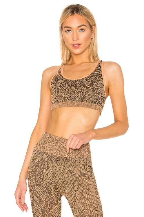 TLA by Morgan Stewart Snakeskin Sports Bra