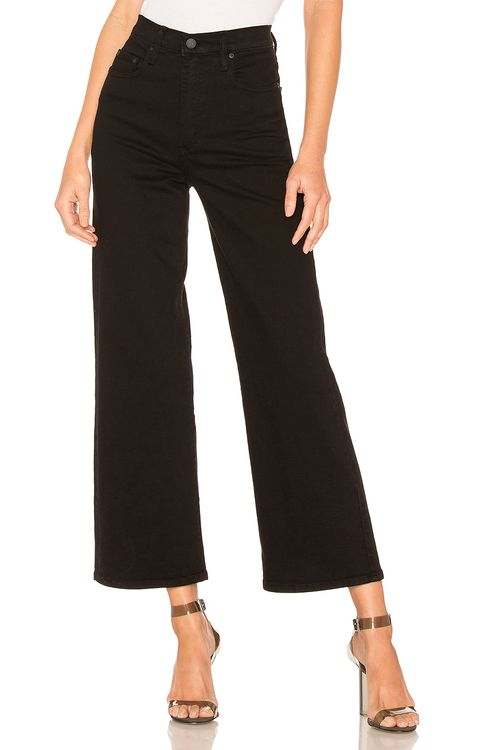 Nobody Denim Milla Wide Leg Pure Black