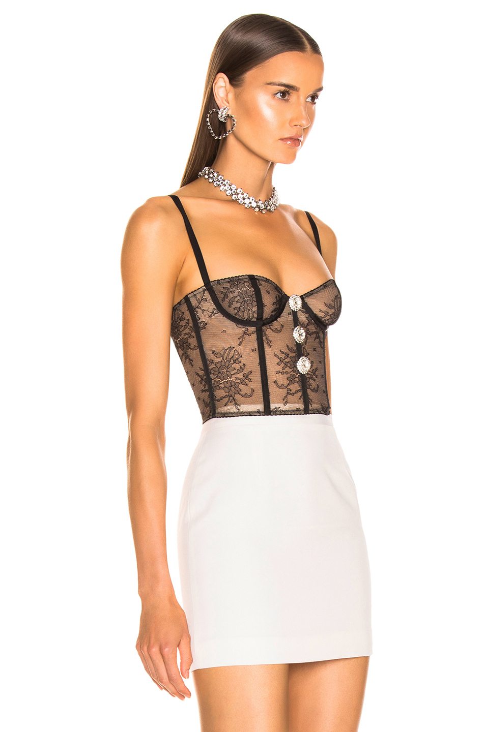 Alessandra Rich Lace Bustier