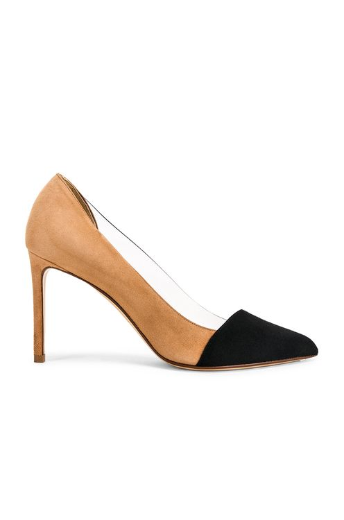 Francesco Russo Two Tone PVC Heels