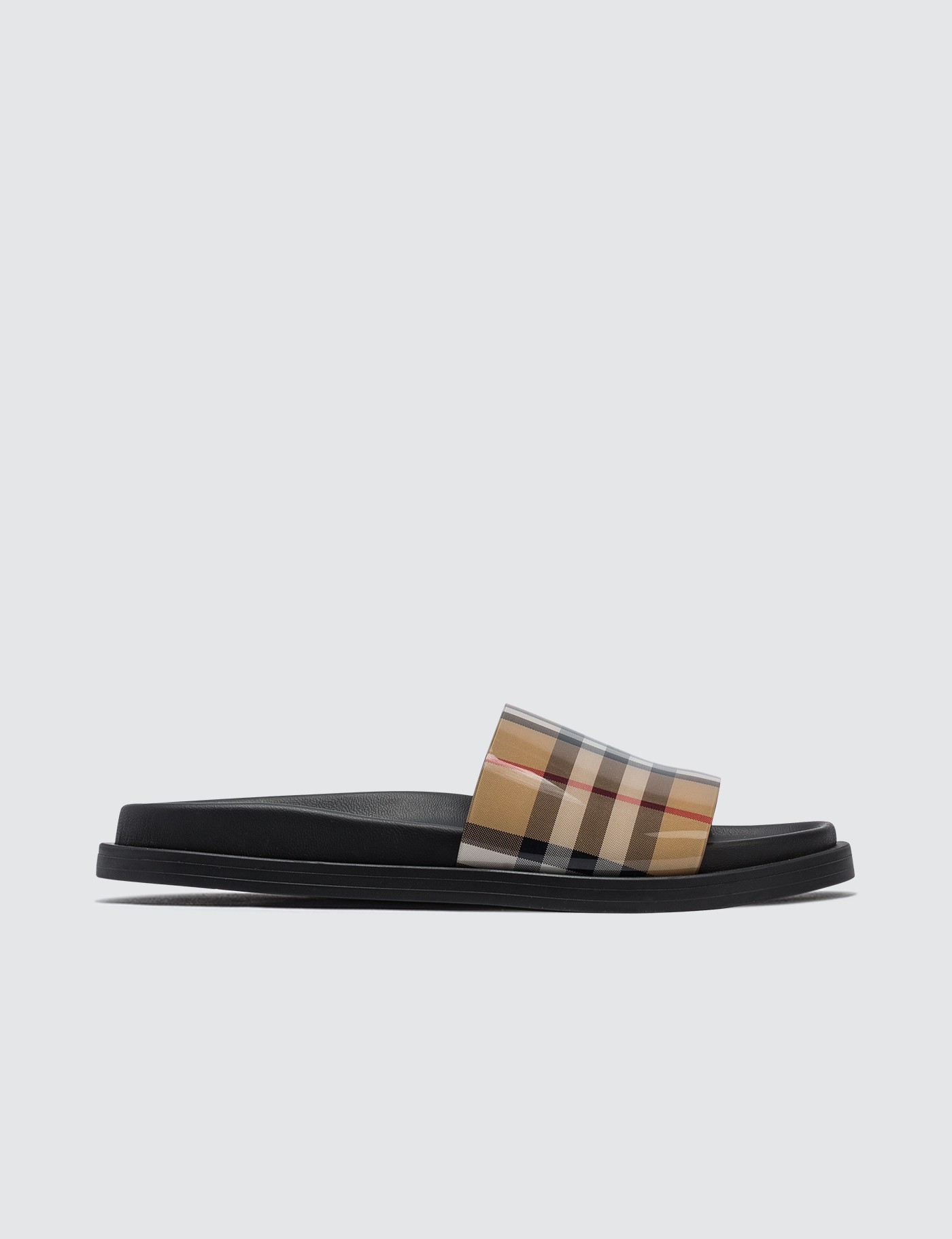 3dc190a8d Buy Original Burberry Vintage Check and Leather Slides at Indonesia ...
