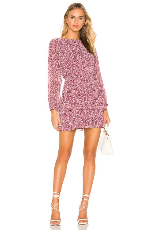 1. STATE Long Sleeve Wildflower Ditsy Tiered Ruffle Dress