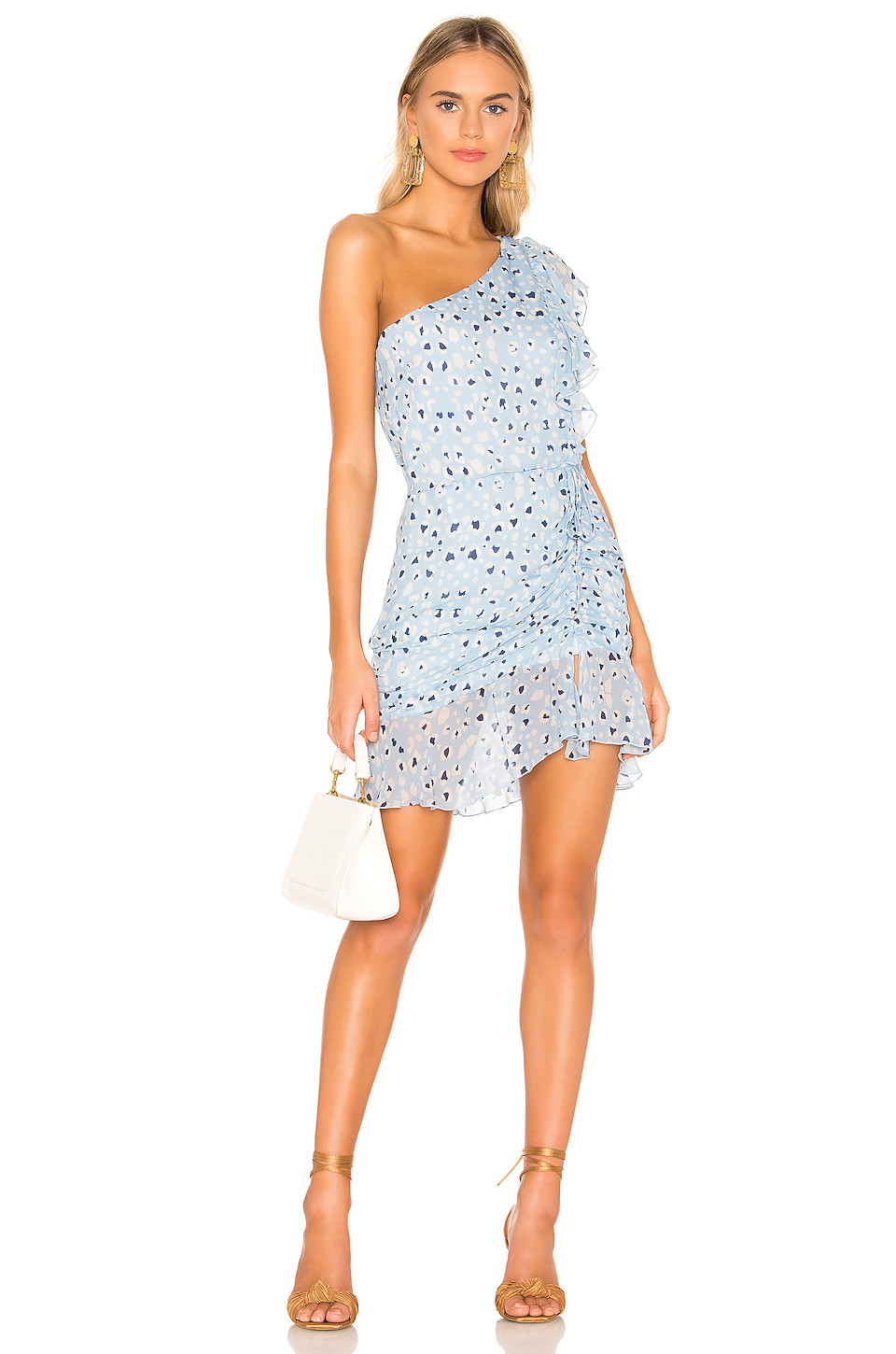 Karina Grimaldi Tana Print Mini Dress