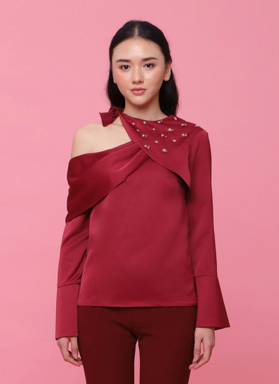 Soecah Ease Top - Dark Red