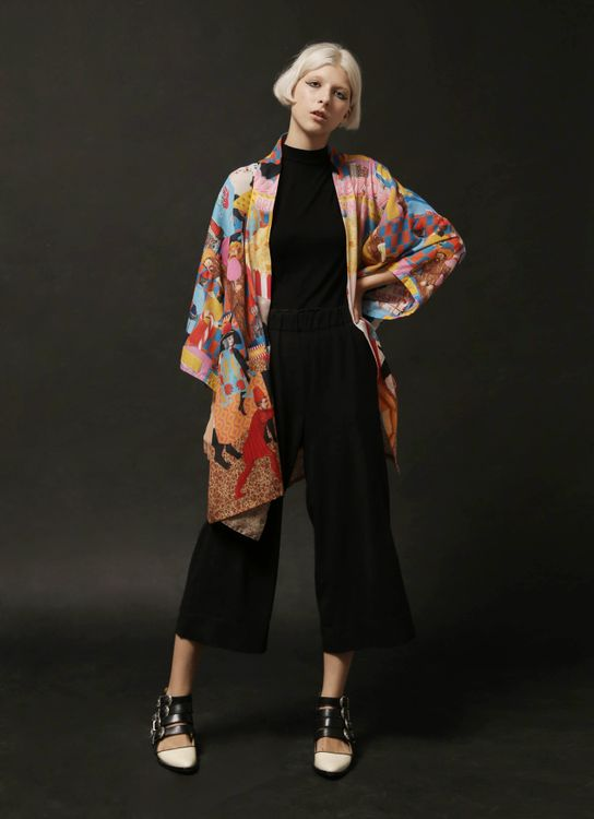 DIBBA The Pulhem Point Kimono - Print Colorful