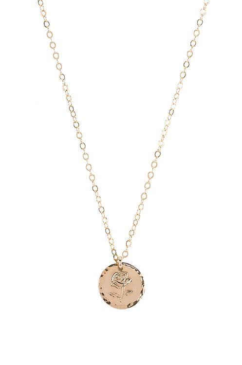 Paradigm Rose Stamp Coin Necklace