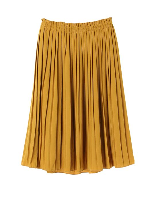 Earth, Music & Ecology by Stripe Japan Ainu Skirt - Mustard