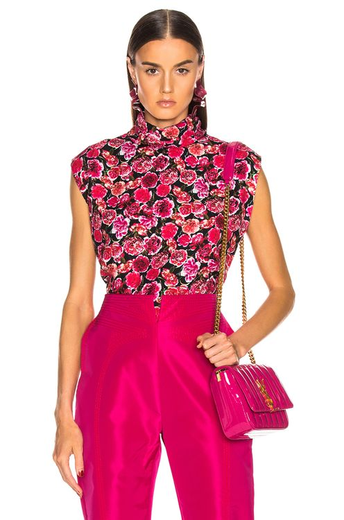 Carmen March Carnation Sleeveless Top