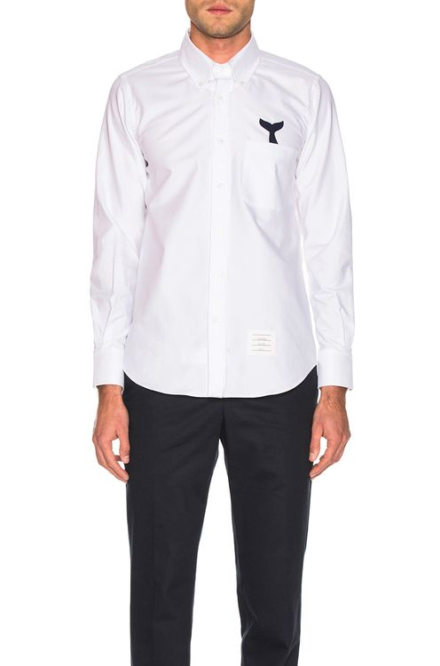 Thom Browne Straight Fit Button Shirt