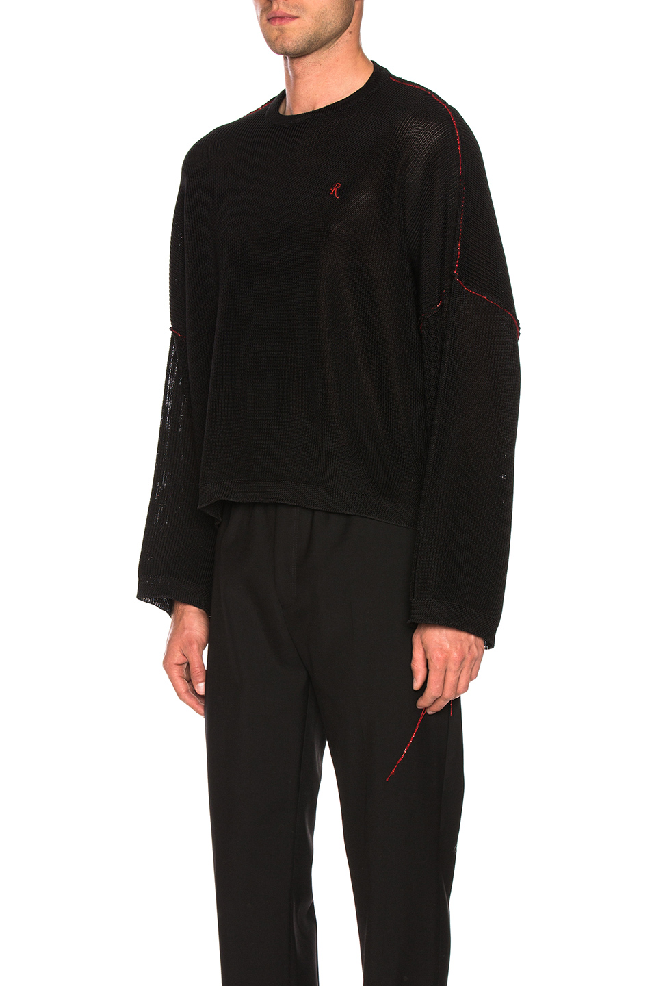 Raf Simons Big Sleeves Cropped Sweater