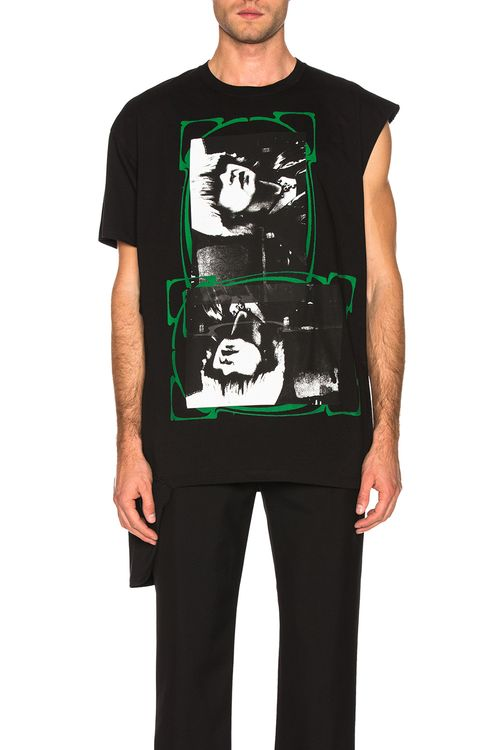 Raf Simons Open Side Graphic Tee