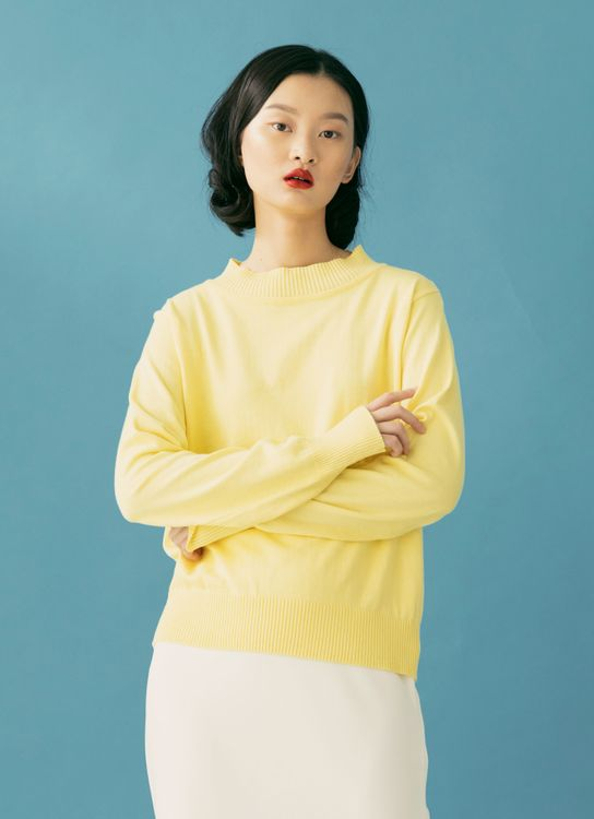 ATS THE LABEL Zoey Sweater - Lemon