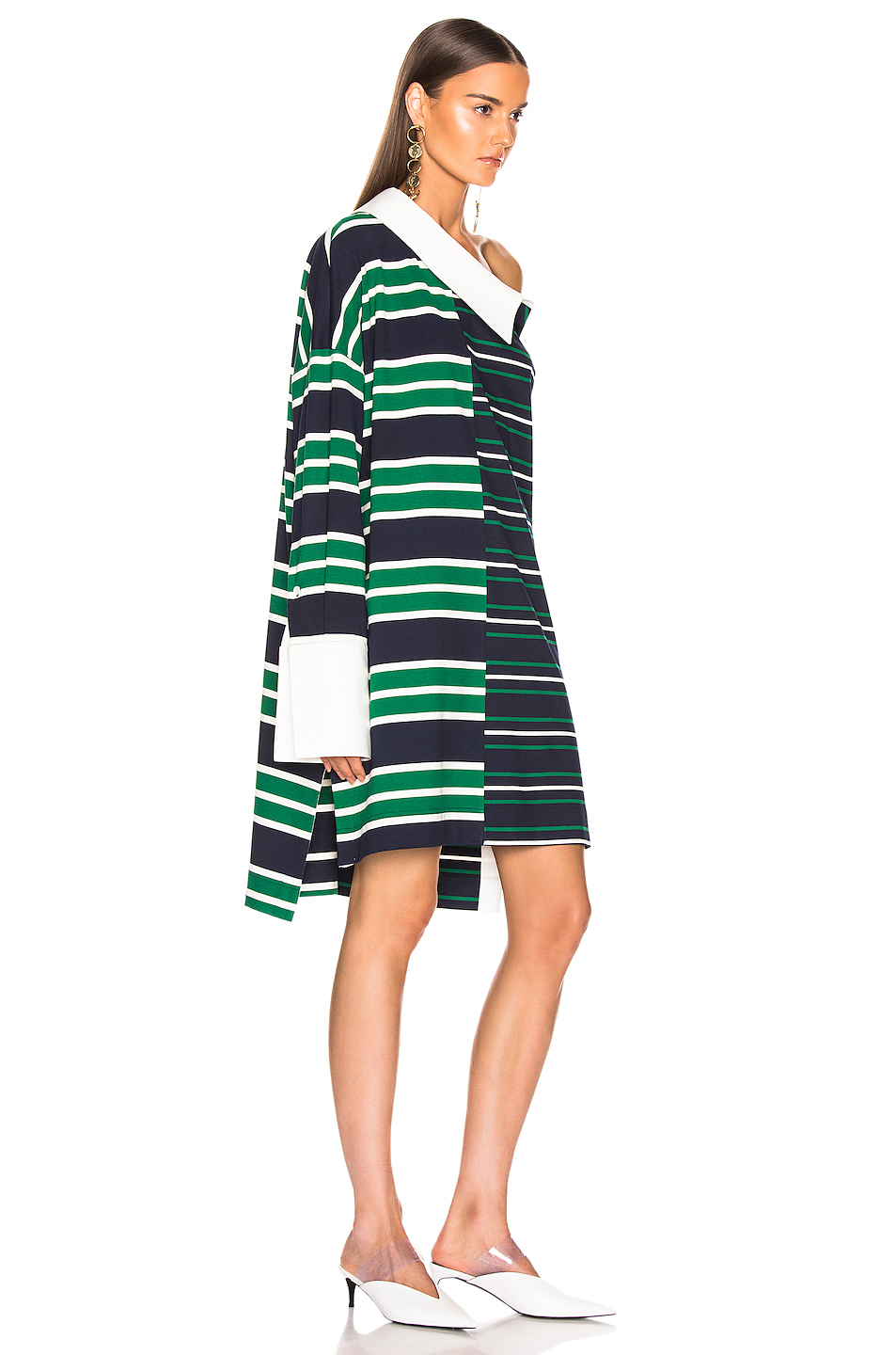 Monse Striped Shifted Rugby Dress