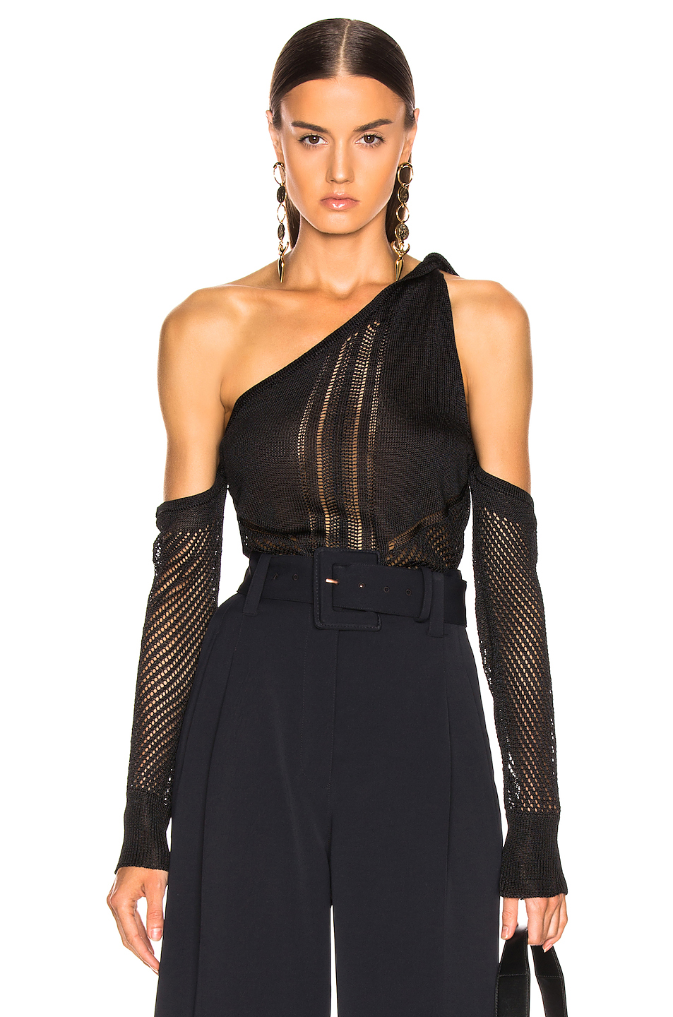 Cushnie Cold Shoulder Knit Top