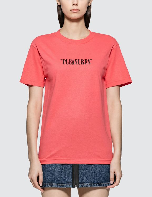 Pleasures Core Logo Embroidered T-shirt