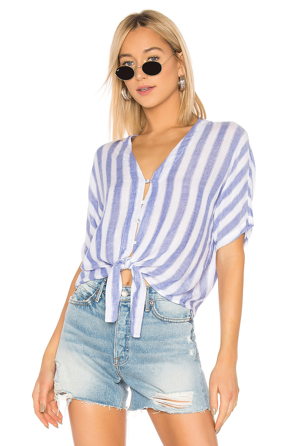 Rails Thea Button Down Top