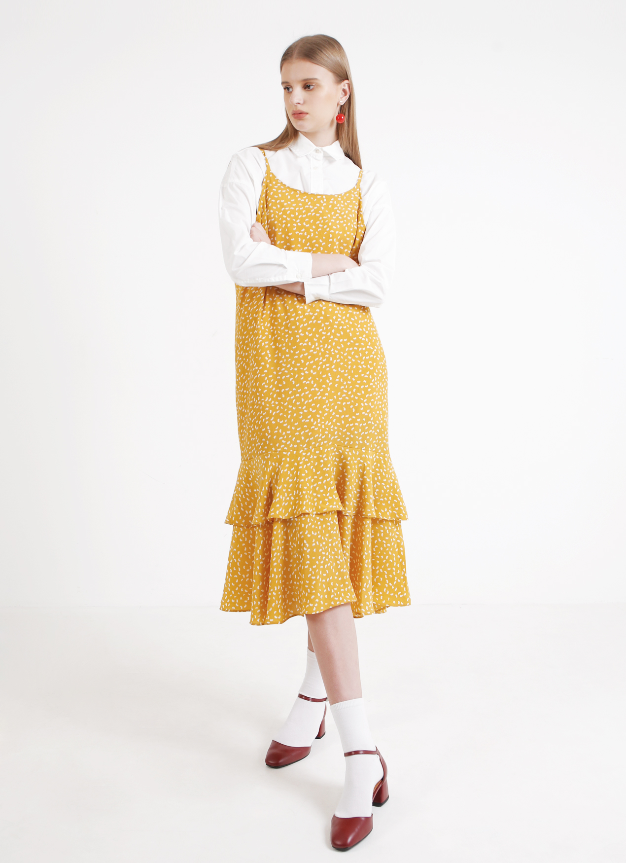 68211704251 Buy Original BOWN Venus Dress - Yellow at Indonesia