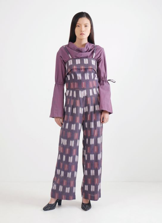IKAT Indonesia by Didiet Maulana Alaia Jumpsuit - Purple