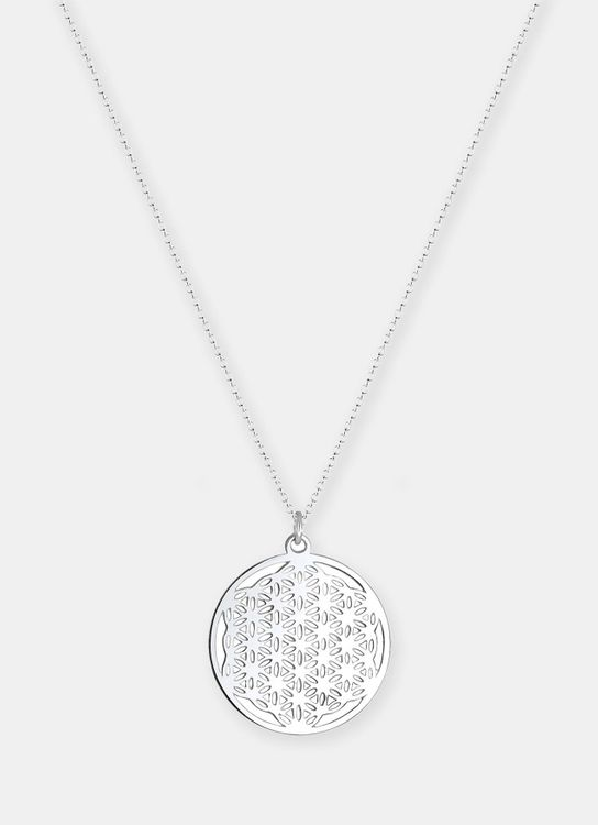 Elli Germany Flower of Life Necklace - Silver