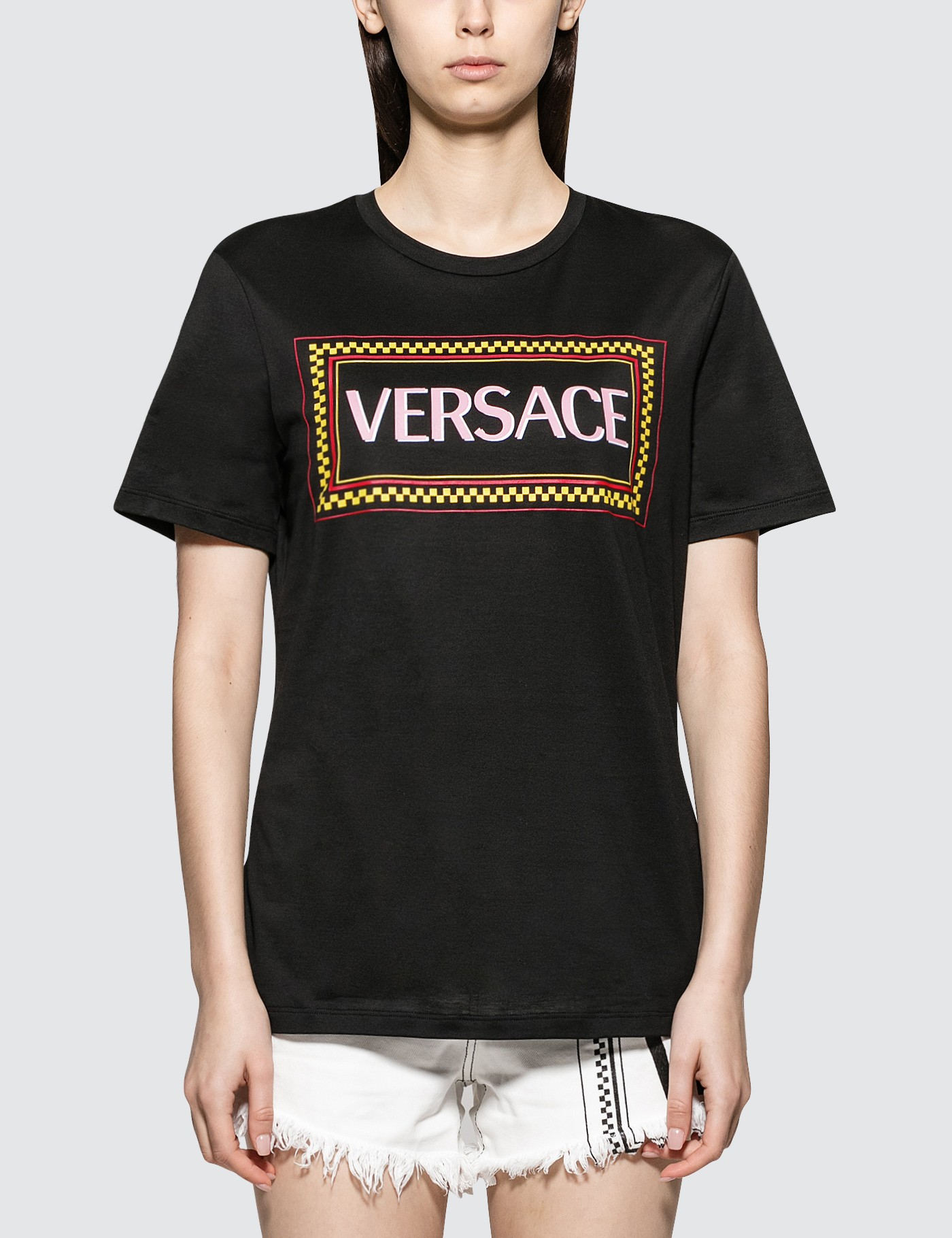 92003edc Buy Original Versace Box Logo Short Sleeve T-shirt at Indonesia ...